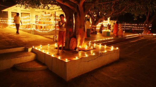 Night View At Temple