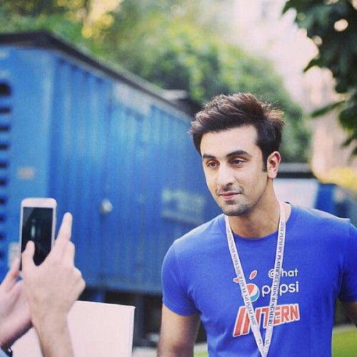 Ranbir Kapoor During Ipl 7