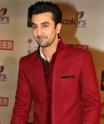 Ranbir Kapoor In Red Awesome Dress