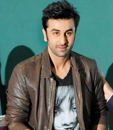 Ranbir Kapoor In Tshirt And Leathe Jacket