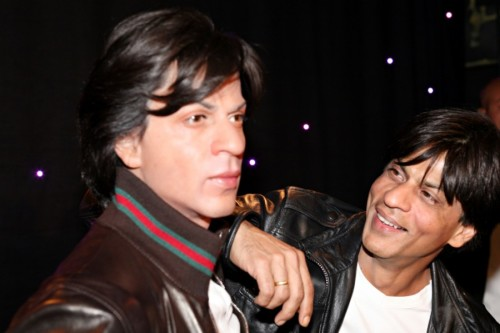 SRK With His Wax Statue