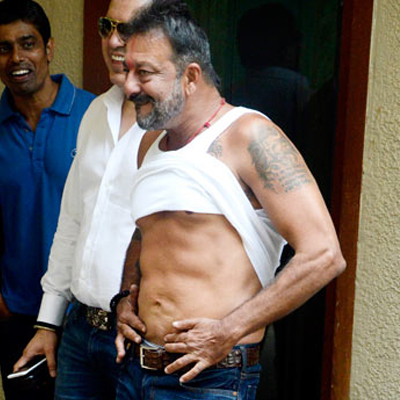 Sanjay Dutt Showing His Abs