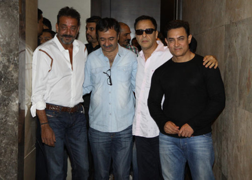 Sanjay With Aamir And Other Bollywood Artist