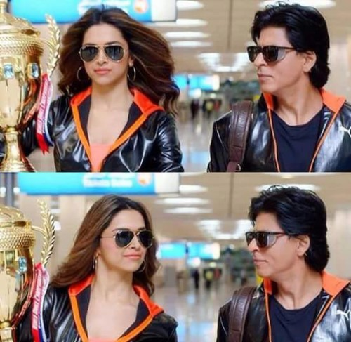 Shahrukh Khan With Deepika