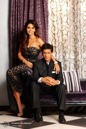 Shahrukh Khan With His Cute Wife
