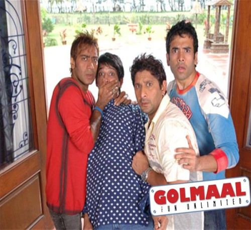 Sharman Joshi with Golmaal Cast