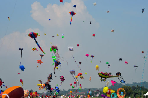 Sky With Full OF Kites '