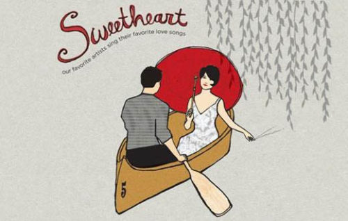 Sweetheart Couple In Boat Graphic