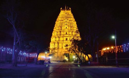 Temple View At Night