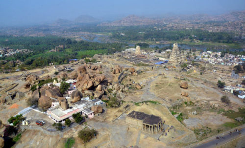 Top View OF Hampi Temple