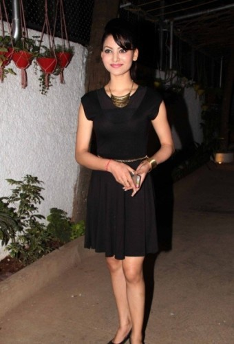 Urvashi Rautela In Black Dress