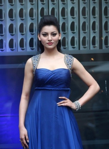Urvashi Rautela In Blue Dress