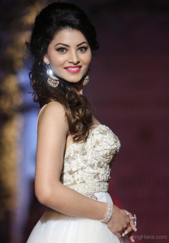 Urvashi Rautela In White Dress