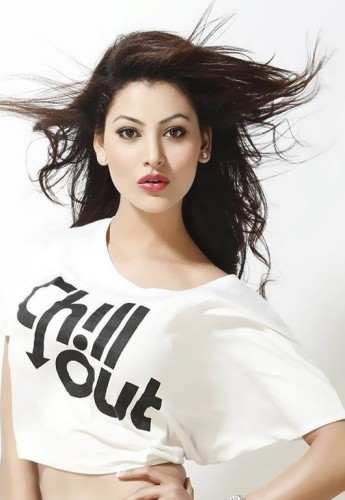 Urvashi Rautela In White Top