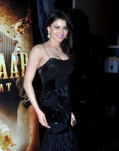 Urvashi Rautela Wearing Black Dress