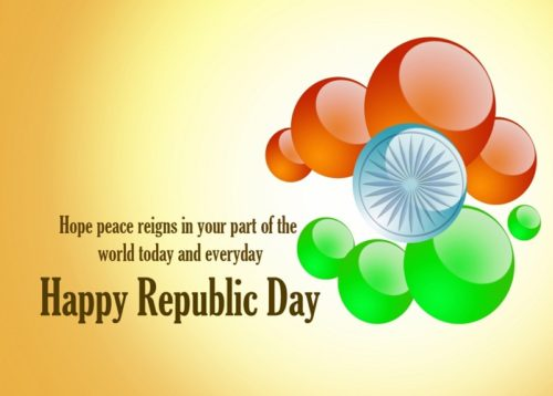 Wish Peace For India Happy Republic Day