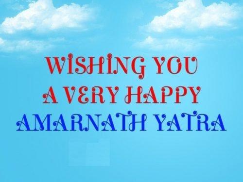 Wishing You A Very Happy Amarnath Yatra