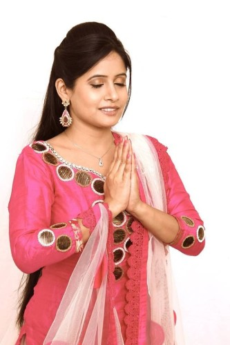 Miss Pooja With Praying Hands