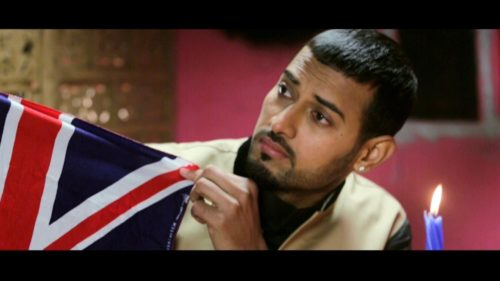Garry Sandhu Showing Flag