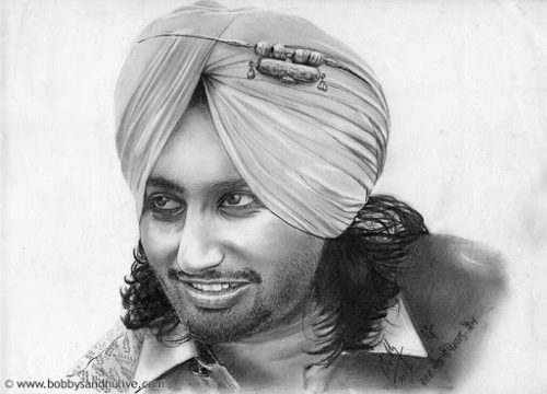 satinder-sartaj-pencil-portrait