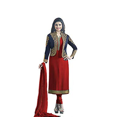 Red Jacket Style Punjabi Suit