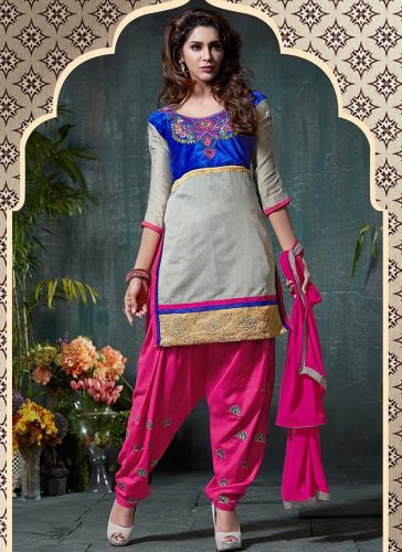 Grey Shaded Patiala Suit